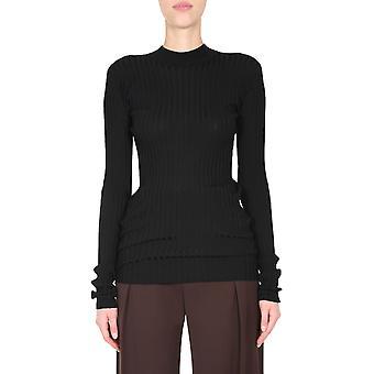 Bottega Veneta 631301vkwg01000 Women's Black Wool Sweater