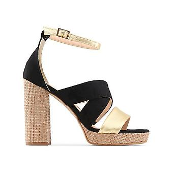 Made in Italia - shoes - sandal - OFELIA_CAMOSCIO_NERO - ladies - black,gold - 40