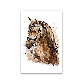 Akvarell portrett av hest plakat -Bilde av Shutterstock
