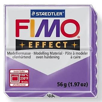 Staedtler Fimo Effect 8020-604 Oven Hardening Modelling Clay 56g - Translucent Lilac