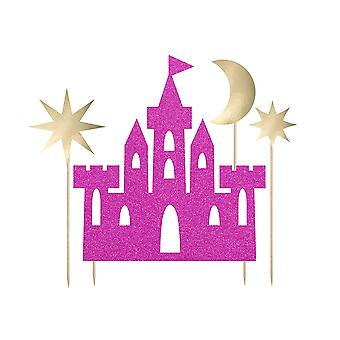 Princess Castle Birthday Cake Topper Set for Kids Parties