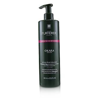 Okara väri väri säteily rituaali värisuojaus shampoo värikäsitelty hiukset (salonki tuote) 233366 600ml / 20.2oz