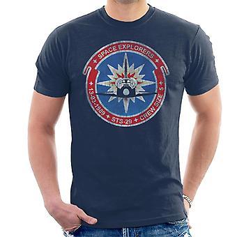 NASA-STS-29 Entdeckung Mission Abzeichen Distressed T-Shirt für Männer
