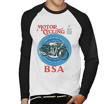 BSA Motor Cycling Empire Star Men's Baseball Long Sleeved T-Shirt