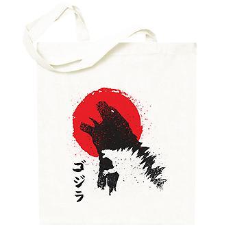 Godzilla Zerstören japanischen Stil Totebag
