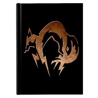 Foxhound Symbol Dirty Brass Metal Gear Solid Hardback Journal