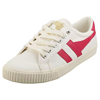 Gola Tennis Mark Cox Womens Casual Utbildare i Off White Pink