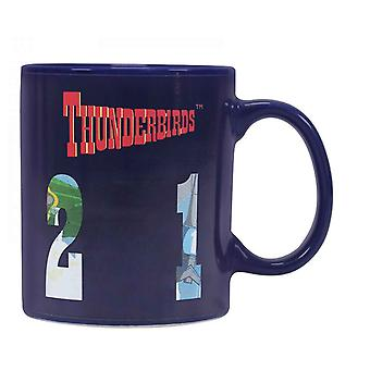 Thunderbirds Heat Changing Mugg Fordon nya officiella Blue Boxed