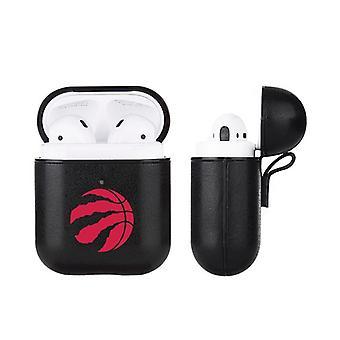 Toronto Raptors NBA Fan Brander Black Leather AirPod Pro Case
