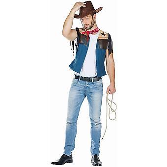 Cowboy Vest Męski Kostium Dziki Zachód Kostium KowbojSki Karnawał