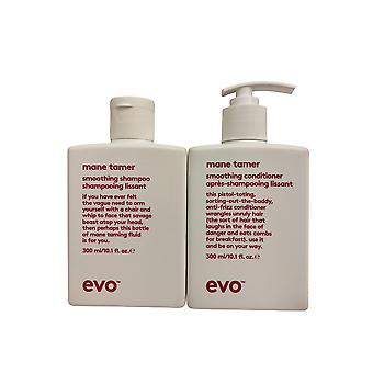 evo Mane Tamer Smoothing Shampoo & Conditioner Set 10.1 OZ Elk