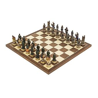 The Zombie Hand painted themed Chess set by Italfama