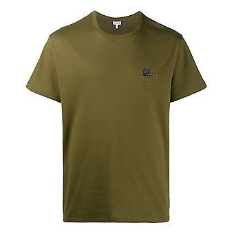 Loewe H526341xai4160 Men'camiseta de algodão verde