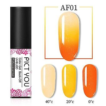 Three Colors Soak Off Gel Polish - Thermal Gel Temperature Change Nail Gel|
