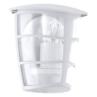 1 Light Outdoor Flush Lantern White IP44, E27