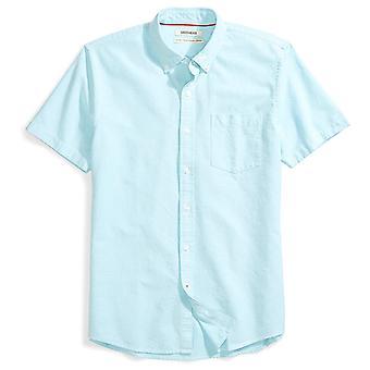 Goodthreads Män & apos; s Standard-Fit kortärmad solid Oxford shirt med ficka, Turq ...