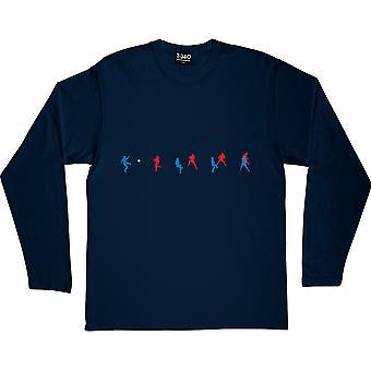 Battiston vs Schumacher Navy Blue Long-Sleeved T-Shirt