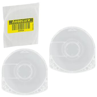 Umd replacement cases for psp games & movies - disc shell casings compatible all sony psp consoles using umd format - 2 pack clear