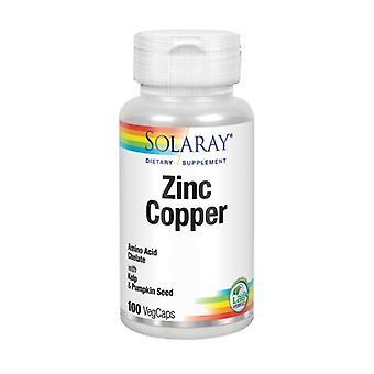Cobre de Zinco Solaray, 100 Caps