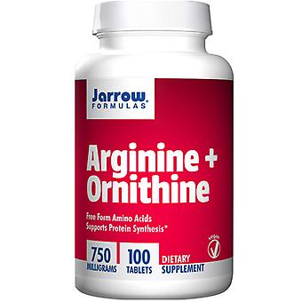 Jarrow נוסחאות ארגינין + Ornithine, 750 מ ג, 100 כרטיסיות