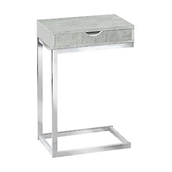 """10.25"""" x 15.75"""" x 24.5"""" Grey Finish and Laminated Metal Accent Table"""