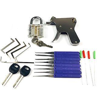 New Locksmith Toolslock Gun With Transparent Practice Broken Key Extractor Pick Tool