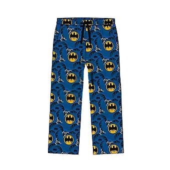 Men & apos;s DC Comics Batman Classic Suit Print Blue Lounge Byxor