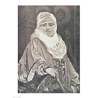 La Favorita-kvinna med en slöja affisch Skriv av Jean leon Gerome