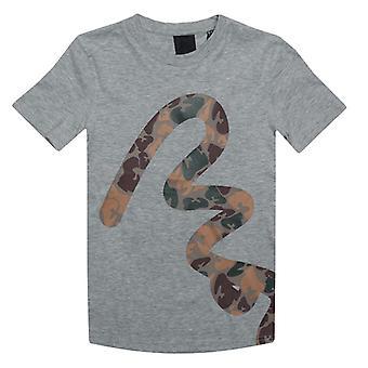 Boy's Money Junior Big Camo T-Shirt in Grey