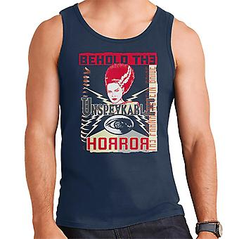 The Bride Of Frankenstein Behold The Unspeakable Horror Men's Vest