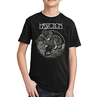 Mastodon Kids T Shirt Griffin Band Logo new Official Black Ages 5-14 yrs