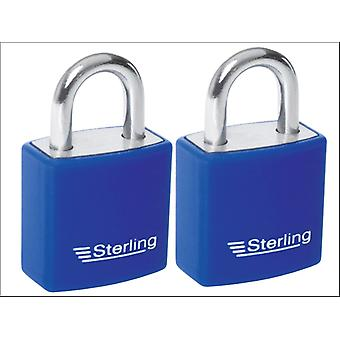 Sterling (Padlocks) Aluminium Padlock Single Lock 20mm APL222P