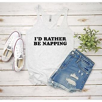 I'd Rather Be Napping - Naisten/miesten/taaperoiden paidat (design -1)