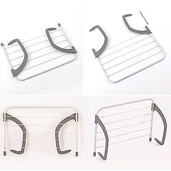5 Rail Towel Bar Holder, Clothes Folding Pole, Airer Dryer, Drying Rack