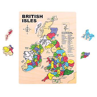Bigjigs Toys Wooden British Isles Puzzle Educational Geography Jigsaw