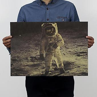 Apollo Moon Nostalgi Vintage Kraft Papir Film Plakat Magazine