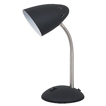 Italux Cosmic - Moderne Tischleuchte schwarz, Satin 1 Licht mit schwarzem Farbton, E27