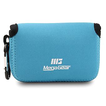 Custodia megagear in neoprene ultra leggera compatibile con nikon coolpix w150, w100, s33 blue