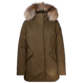Woolrich Wwou0258frut19746291 Women's Green Cotton Outerwear Jacket