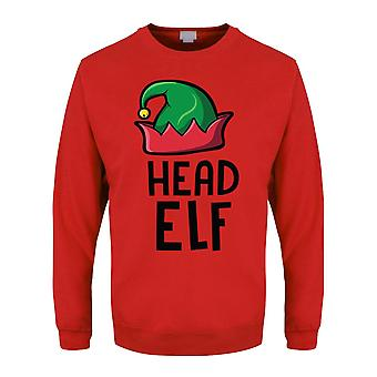 Grindstore Mens Head Elf Christmas Jumper