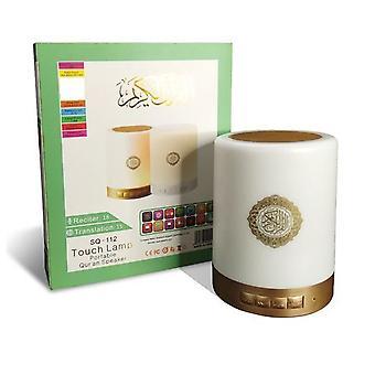 القرآن الإسلامي MP3 لاعب ليلة مصباح اللمس الخفيفة