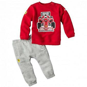 Puma SF Ferrari Infant Boys Graphic Red Grey Jumper Joggers Set 762123 01 A10B