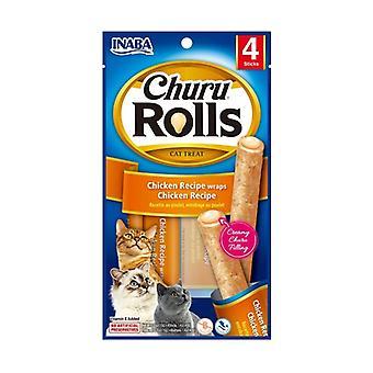Churu Rolls for Cats Chicken Recipe 4 sticks