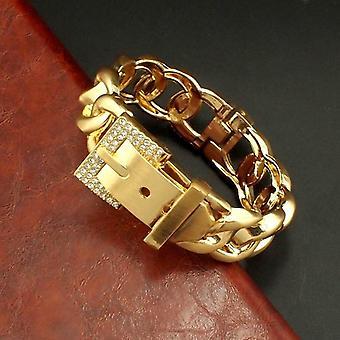 Classic Rhinestones Metal Alloy Cuff Bracelet