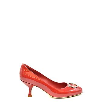Salvatore Ferragamo Ezbc078019 Damen's Rote Patent Leder pumpen