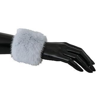 Light Gray Cuff Women 100% Mink Fur Bracelet