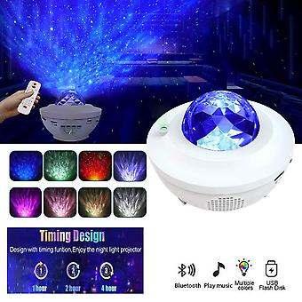 LED Night Light Starry Sky Projector Colorful Star Moon Night Lights for Bedroom Decor Gift Remote Control Music Lamp