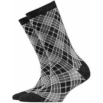 Burlington Ladywell Rhomb Socks - Black