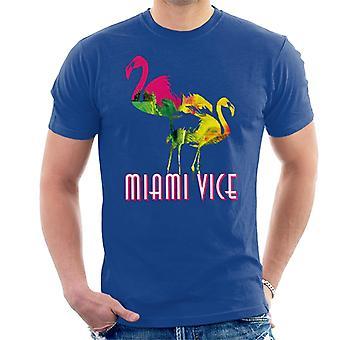 Miami Vice Flamingo Silhouette Men's T-Shirt