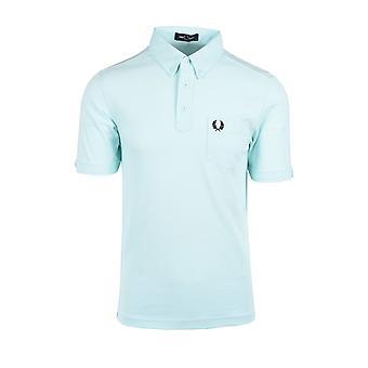 Fred Perry Button Down Collar Polo Brighton Blue